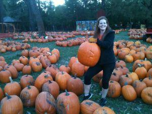 jody unloading pumpkins