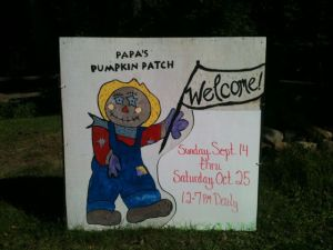Poppy welcome sign