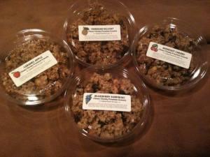 granola 4 flavors