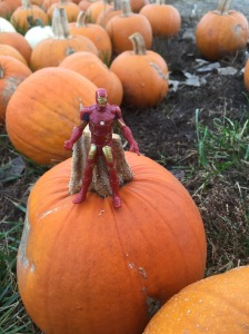 Iron Man on a pumpkin - 1
